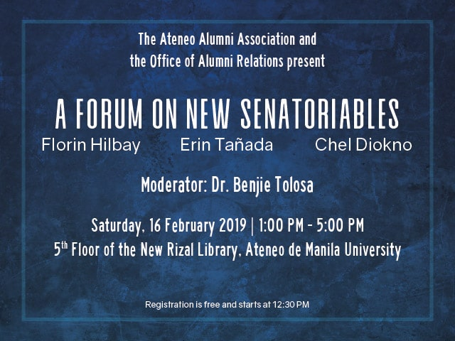 A Forum On New Senatoriables